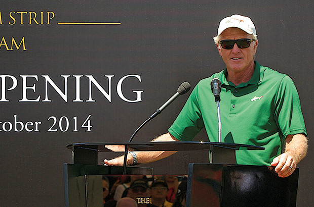 Greg Norman ain\\\'t Bluff-ing